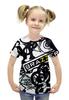 """Футболка с полной запечаткой для девочек """"StickerBomb AutoTheme"""" - auto, sticker, bomb, brazzers, stickerbomb"""
