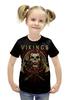 """Футболка с полной запечаткой для девочек """"Викинги / Vikings"""" - рисунок, кино, сериал, викинги"""