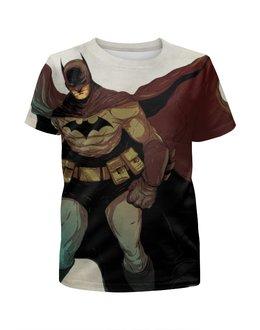 """Футболка с полной запечаткой для девочек """"Batman"""" - комиксы, batman, фильм, dc, бэтмэн"""