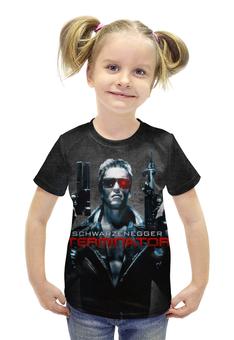 """Футболка с полной запечаткой для девочек """"Terminator"""" - арнольд, ретро, терминатор, the terminator, barreljumpers"""