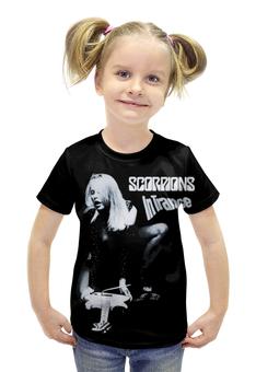 """Футболка с полной запечаткой для девочек """"Scorpions Band"""" - heavy metal, hard rock, scorpions, скорпионс, хеви метал"""