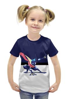 "Футболка с полной запечаткой для девочек ""PoKeMon Greninja"" - pokemon, покемон, greninja, грениндзя"