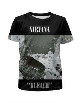 "Футболка с полной запечаткой для девочек ""nirvana bleach full print"" - гранж, nirvana, kurt cobain, курт кобейн, нирвана"