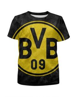 """Футболка с полной запечаткой для девочек """"Боруссия Дортмунд"""" - bvb, боруссия дортмунд, borussia"""