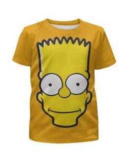 """Футболка с полной запечаткой для девочек """"Bart Simpson"""" - симпсоны, the simpsons, bart simpson, барт симпсон"""
