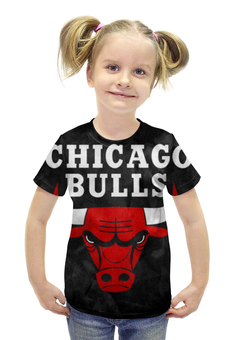 """Футболка с полной запечаткой для девочек """"Chicago Bulls"""" - chicago, bulls, нба, chicago bulls"""