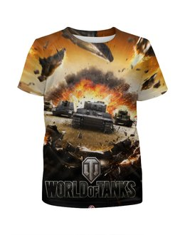 """Футболка с полной запечаткой для девочек """"World of Tanks"""" - арт, игра, танки"""