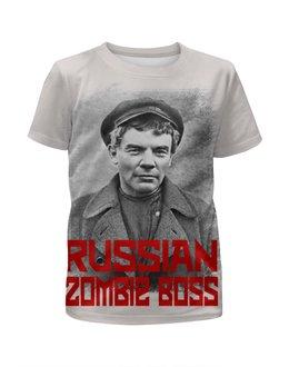 """Футболка с полной запечаткой для девочек """"Lenin Russian Zombie Boss"""" - зомби, ссср, lenin, ленин, россия"""