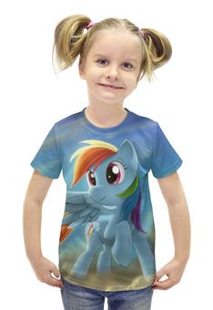 """Футболка с полной запечаткой для девочек """"My little pony"""" - с пони, май литл пони, одежда литл, футболка дружба"""