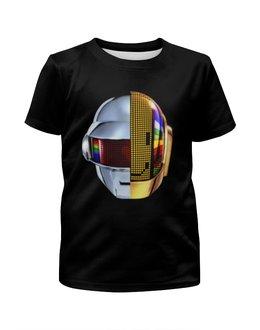"""Футболка с полной запечаткой для девочек """"Daft Punk"""" - музыка, хаус, электроника, daft punk, дафт панк"""