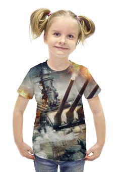 """Футболка с полной запечаткой для девочек """"Мир Кораблей"""" - world of warships, мир кораблей, wargaming net, wows"""