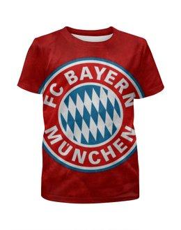"""Футболка с полной запечаткой для девочек """"Бавария Мюнхен"""" - бавария мюнхен, bayern münchen"""