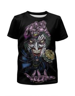 """Футболка с полной запечаткой для девочек """"Joker & Batman"""" - комиксы, batman, джокер, бэтмен, dc"""