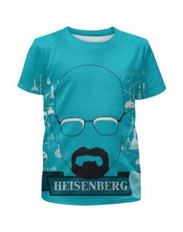 "Футболка с полной запечаткой для девочек ""Heisenberg, Breaking Bad"" - во все тяжкие, breaking bad, хайзенберг, метамфетамин, blue мет"