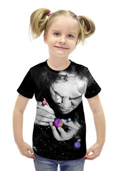 """Футболка с полной запечаткой для девочек """"Мастер вселенной"""" - космос, абстракция, галактика"""