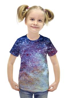 """Футболка с полной запечаткой для девочек """"Пояс Ориона"""" - арт, звезды, космос, вселенная"""