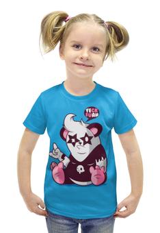 """Футболка с полной запечаткой для девочек """"Панда 3d"""" - панда, kiss, panda"""