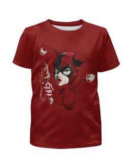 """Футболка с полной запечаткой для девочек """"Харли Квинн / Harley Quinn"""" - комикс, рисунок, кино, харли квинн, джокер"""