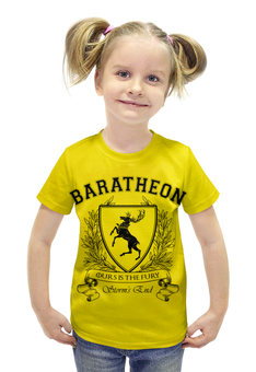 """Футболка с полной запечаткой для девочек """"Игра Престолов. Дом Баратеонов"""" - игра престолов, game of thrones, house baratheon, баратеоны, дом баратеонов"""