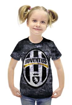 """Футболка с полной запечаткой для девочек """"Ювентус (Juventus)"""" - ювентус, juventus"""