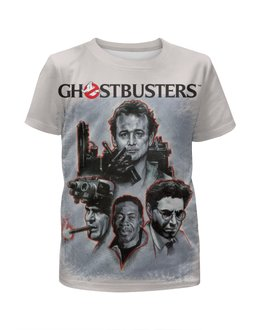 "Футболка с полной запечаткой для девочек ""Ghost Busters"" - кино, фантастика, комедия, охотники на привидений, ghost busters"