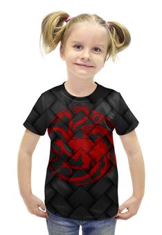 """Футболка с полной запечаткой для девочек """"Игра Престолов!!!"""" - dragons, герб, драконы, игра престолов, game of thrones"""