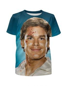 """Футболка с полной запечаткой для девочек """"Dexter"""" - dexter, декстер, кровь, убийца, killer"""