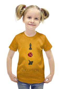 """Футболка с полной запечаткой для девочек """"Начало (Inception)"""" - начало, inception"""