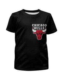 """Футболка с полной запечаткой для девочек """"Chicago B."""" - баскетбол, nba, фан, chicago bulls"""