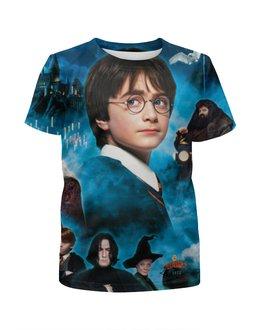 """Футболка с полной запечаткой для девочек """"Гарри Поттер"""" - harry potter, гарри поттер, приключения, волшебник, рэдклифф"""