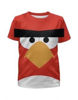 """Футболка с полной запечаткой для девочек """"Angry Birds"""" - angry, angry birds, геймер, злые птицы, про игры"""