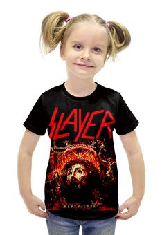 """Футболка с полной запечаткой для девочек """"Slayer Repentless 2015"""" - музыка, рок, металл, slayer, thrash metal"""