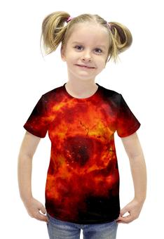 """Футболка с полной запечаткой для девочек """"Space"""" - космос, технологии, наука, денис гесс, the spaceway"""