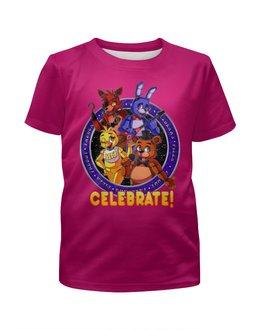 """Футболка с полной запечаткой для девочек """"Five Nights at Freddy's"""" - игрушки, куклы, дочке, пять ночей у фредди, игроманам"""