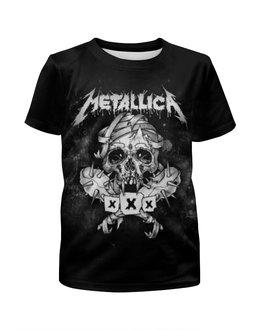 """Футболка с полной запечаткой для девочек """"Metallica"""" - рок, metallica, группы, метал, металлика"""