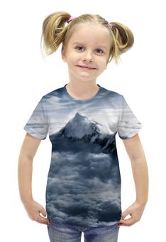 """Футболка с полной запечаткой для девочек """"Эверест"""" - кино, снег, гора, everest"""