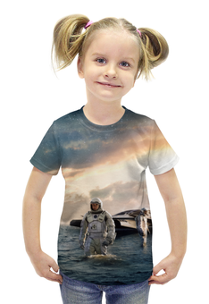 """Футболка с полной запечаткой для девочек """"Интерстеллар"""" - планета, космос, приключения, interstellar, макконахи"""