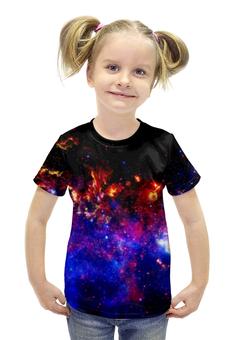 """Футболка с полной запечаткой для девочек """"Великий Космос"""" - космос, наука, прогресс, денис гесс, the spaceway"""