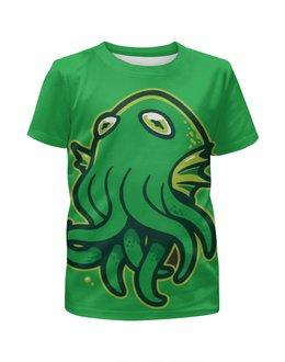 """Футболка с полной запечаткой для девочек """"Octopus / Осьминог"""" - арт, животные, octopus, дизайн, осьминог"""