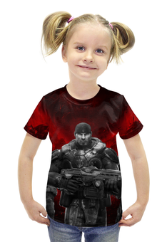 "Футболка с полной запечаткой для девочек "" Gears of War"" - gears of war, маркус феникс, доминик сантьяго, деймон бэрд, августус коул"