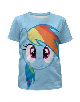 """Футболка с полной запечаткой для девочек """"Rainbow Dash / Рейнбоу Дэш"""" - rainbow dash, my little pony, пони"""