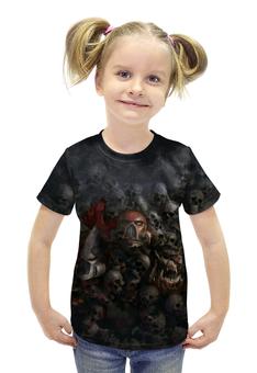 """Футболка с полной запечаткой для девочек """"Dawn of War"""" - черепа, warhammer, 40k, 40000, dawn of war"""