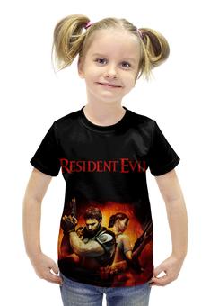 """Футболка с полной запечаткой для девочек """"Resident Evil"""" - игра, обитель зла, resident evil, umbrella, re"""