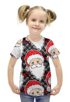 """Футболка с полной запечаткой для девочек """"Дед морозы (Новый год)"""" - новый год, рождество, санта, нг"""