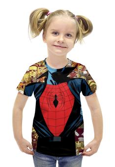 """Футболка с полной запечаткой для девочек """"Человек-паук (Spider-man)"""" - spider man, spider-man, человек-паук"""