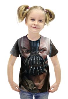 """Футболка с полной запечаткой для девочек """"Bane"""" - комиксы, batman, бэтмен, bane, бейн"""