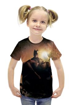 """Футболка с полной запечаткой для девочек """"Batman Begins"""" - комиксы, бэтмен, темный рыцарь, dark knight"""