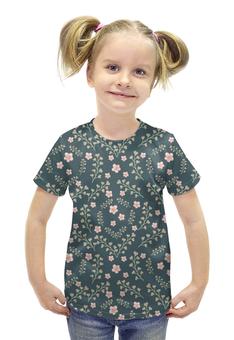 """Футболка с полной запечаткой для девочек """"цветы полевые"""" - авторские майки, цветок, стиль, россия"""