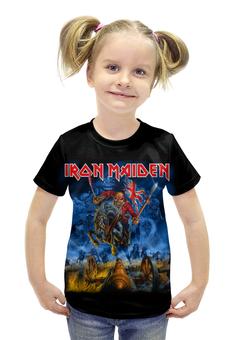 """Футболка с полной запечаткой для девочек """"Iron Maiden Band"""" - heavy metal, iron maiden, хэви метал, eddie, nwobhm"""