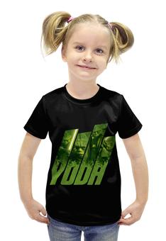 """Футболка с полной запечаткой для девочек """"Звёздные войны. Мастер Йода."""" - кино, фантастика, yoda, звёздные войны, мастер йода"""